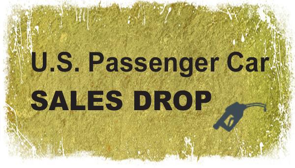 U.S. Passenger Car Sales Drop