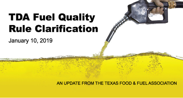 TDA Fuel Quality Rule Clarification